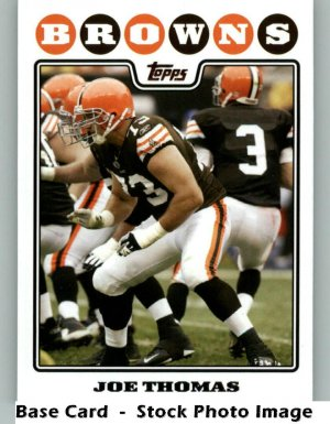 JOE THOMAS 2008 TOPPS #281 Cleveland Browns Wisconsin