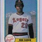 ROD CAREW 1981 FLEER #268 California Angels