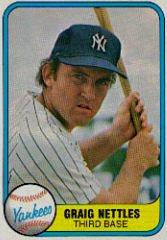 GRAIG NETTLES 1981 FLEER #87 New York Yankees