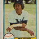 DON SUTTON 1981 FLEER #112 Los Angeles Dodgers Brewers