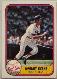 DWIGHT EVANS 1981 FLEER #232 Boston Red Sox MLB