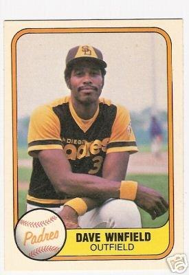 DAVE WINFIELD 1981 FLEER #484 New York Yankees Padres