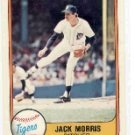JACK MORRIS 1981 FLEER #475 Detroit Tigers Twins