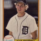 ALAN TRAMMELL 1981 FLEER #461 Detroit Tigers MLB HOF