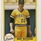 BERT BLYLEVEN 1981 FLEER #383 Minnesota Twins Pirates
