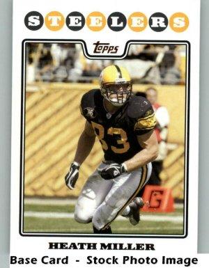 HEATH MILLER 2008 TOPPS #184 Pittsburgh Steelers