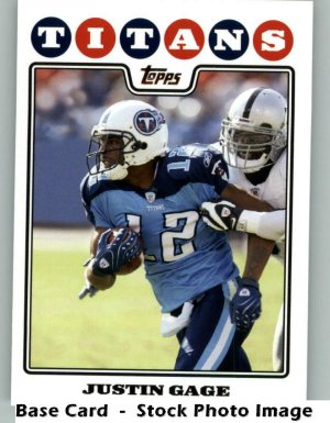 JUSTIN GAGE 2008 TOPPS #153 Tennessee Titans