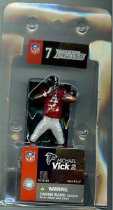 "Mcfarlane Michael Vick Red Jersey 3"" figure Atlanta Falcons Eagles Rare Hokies"