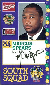 2005 Senior Bowl Marcus Spears LSU Tigers sports cards football