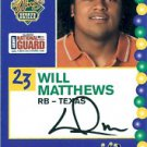 2005 Senior Bowl Will Matthews Texas Lonhorns sports cards football