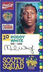 2005 Senior Bowl Roddy White Atlanta Falcons cards NFL