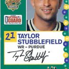 2005 Senior Bowl Taylor Stubblefield Purdue sports cards football