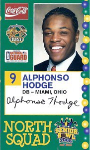 2005 Senior Bowl Alphonso Hodge Miami Ohio sports cards football