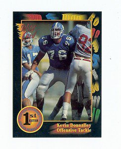 1991 Wildcard Kevin Donnalley North Carolina sports cards football
