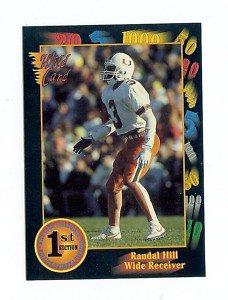 1991 Wildcard Randal Hill Miami hurricanes sports cards football