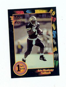 1991 Wildcard Eric Bieniemy Colorado Buffaloes sports cards football pac 12