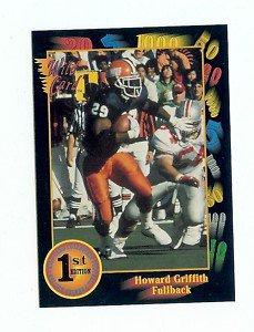 1991 Wildcard Howard Griffith Illinois sports cards football denver broncos