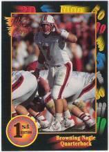 1991 Wildcard Browning Nagle Louisville Cardinals sports cards Football QB