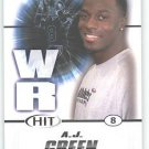 2011 Sage Hit A.J. Green NFL Georgia Cincinnati Bengals Football cards popular