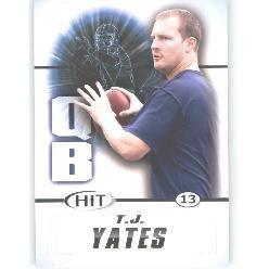 2011 Sage Hit T.J. Yates Sports cards football popular Houston Texans NFL plays