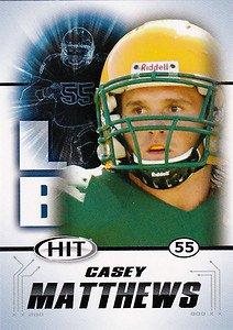2011 Sage Hit Casey Matthews Oregon Ducks sports cards