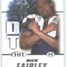 2011 Sage Hit Nick Fairley Auburn Tigers sports cards football popular NFL plays