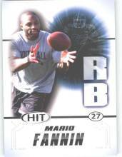 2011 Sage Hit Mario Fannin Auburn Tigers sports cards football popular NFL plays