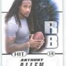 2011 Sage Hit Anthony Allen Georgia Tech Football sports cards popular NFL plays