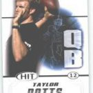 2011 Sage Hit Taylor Potts Texas Tech sports cards football popular NFL plays