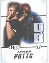2011 Sage Hit Taylor Potts Texas Tech sports cards football popular NFL plays