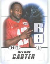 2011 Sage Hit Delone Carter Syracuse Orange sports cards Football popular NFL