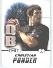 2011 Sage Hit Christian Ponder Florida State sport card