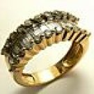 DIAMONDS BAGUETTES 14K YELLOW GOLD RING