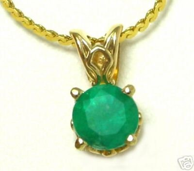 Colombian Emerald Solitaire Pendant 1.0ct