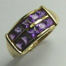 MAJESTIC AMETHYST & GOLD RING 1CT