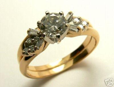 DIAMOND RING 14K YELLOW GOLD RING .64CTS