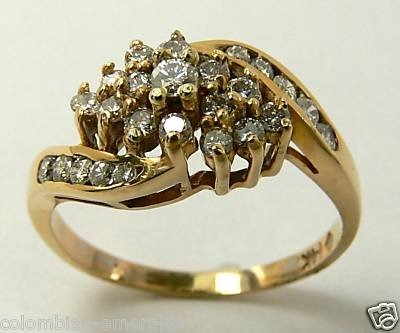 DIAMONDS RING 14K YELLOW GOLD