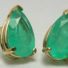 NATURAL EMERALD EARRINGS 14K Y GOLD