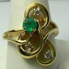 INCREDIBLE COLOMBIAN EMERALD & DIAMOND RING