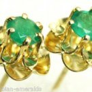 Gorgeous! Colombian Emerald Floral Stud Earrings