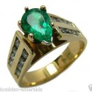 Substantial! Colombian Emerald & Diamond Ring 1.55cts