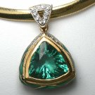 HeadTurning! Green Amethyst Diamond & Enamel Slide