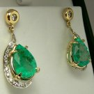 Divaesque! Custom Colombian Emerald & Diamond Earrings 12cts