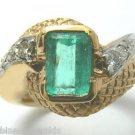 Custom Colombian Emerald & Diamond Ring 1.80cts
