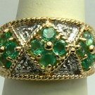 Tantalizing Colombian Emerald & Diamond Ring 1.50cts