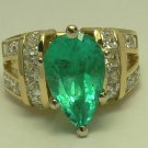 Spectacular Colombian Emerald & Diamond Ring 6.50ctw