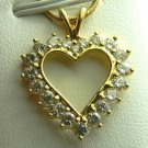 Beautiful Diamond Heart Pendant 1ctw