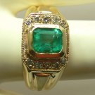 STUNNING COLOMBIAN EMERALD & DIAMOND RING 1.50CTS