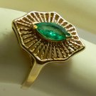 RETRO INSPIRED COLOMBIAN EMERALD RING