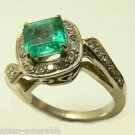 COLOMBIAN EMERALD RING 1.25 CTS EXTRA FINE